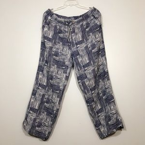 100% Linen Elastic Waisted Pants | JM Collection